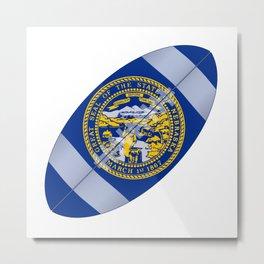 Nebraska State USA Football Flag Metal Print