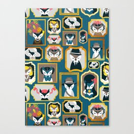 Cats wall of fame Canvas Print