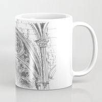gothic Mugs featuring gothic by Tereza Del Pilar