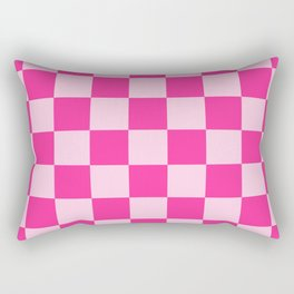 Pink Check Rectangular Pillow