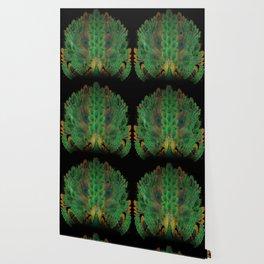 """Emerald and black peacock"" Wallpaper"