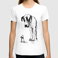 great dane T-shirts featuring Great Dane by Mr Shins