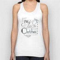 naked Tank Tops featuring Naked by Fickle Designs