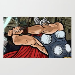 The Mighty Thor, God of Thunder Rug