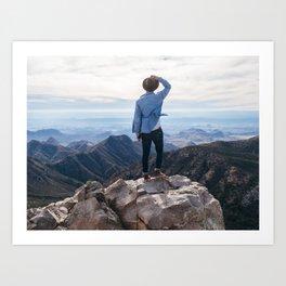 Emory Peak Art Print