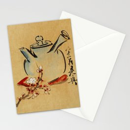 Vintage Japanese Teapot Painting Stationery Cards
