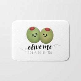 Olive Me Loves Olive You Bath Mat