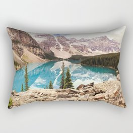 Moraine Lake III Banff Summer Mountain Reflection Rectangular Pillow