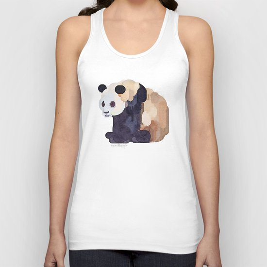 Ice Cream Panda Bear #2 Watercolor Painting Unisex Tank Top