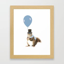 party squirrel Framed Art Print