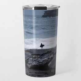 Surfer waiting for entry into the surf at Tamarama Beach. Sydney. Australia. Travel Mug