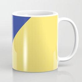 Modern royal blue sunshine yellow trendy color block Coffee Mug