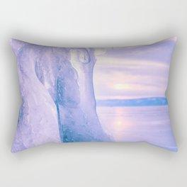 Ice cliff of Lake Baikal Rectangular Pillow