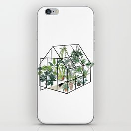 greenhouse with plants iPhone Skin