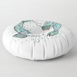 Pisces - weird fishes Floor Pillow