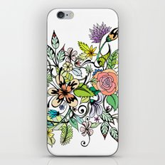 Floral White iPhone & iPod Skin