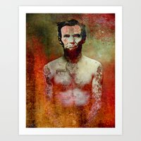 tatoo Art Prints featuring Abraham Tatoo by Ganech joe