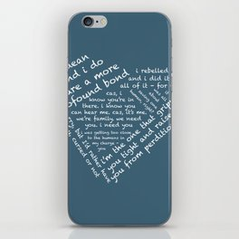 Quotes of the Heart - Destiel (White) iPhone Skin