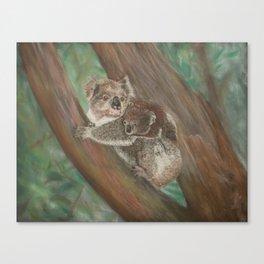 Koala Love with Joey Canvas Print