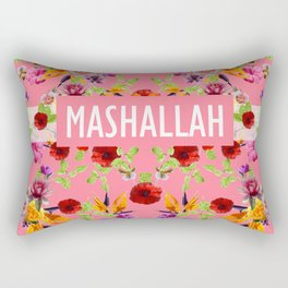 MashAllah Flower Print Rectangular Pillow