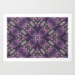 Pleated square Petals Art Print