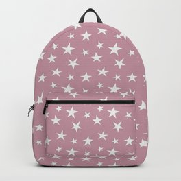 Cute and Adorable Stars on Pink Background Backpack