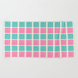 Blue and Pink Beach Towel