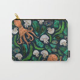 Jellyfish and Octopus Pattern Carry-All Pouch