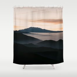 CLOUDY MOUNTAINS Shower Curtain