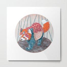 """ Red Panda "" by Teresa Ball ( TBall ) Metal Print"