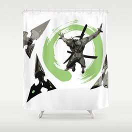 Genga Shower Curtain