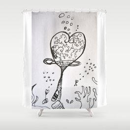 Tribute to Miguel Hernandez #5 Shower Curtain