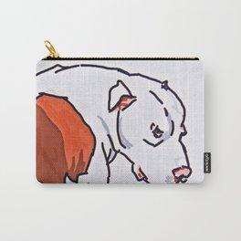 Pretty Pittie Dog Portrait Carry-All Pouch