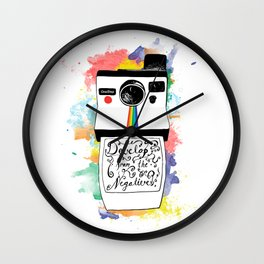 Develop From the Negatives Wall Clock
