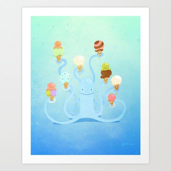 Ice Cream Power Art Print