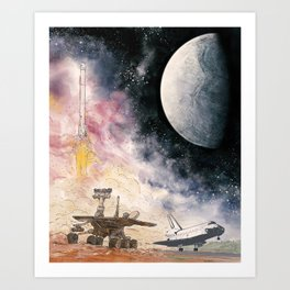 Space Exploration Art Print