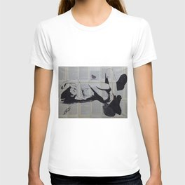 Sleeping girl with butterfly T-shirt