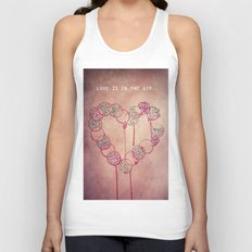 Love is in the air.. Unisex Tank Top