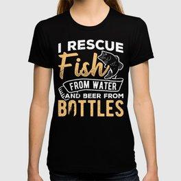 Rescue rum save liberate vinous drinker rodman T-shirt