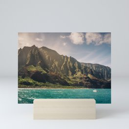 Na Pali Coast Kauai Hawaii Printable Wall Art   Tropical Beach Nature Ocean Coastal Travel Photography Print Mini Art Print