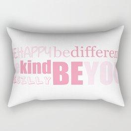 Be You - Pink Rectangular Pillow