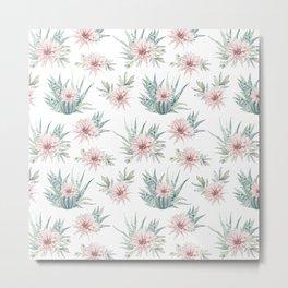 Cactus Rose Succulent Garden Metal Print
