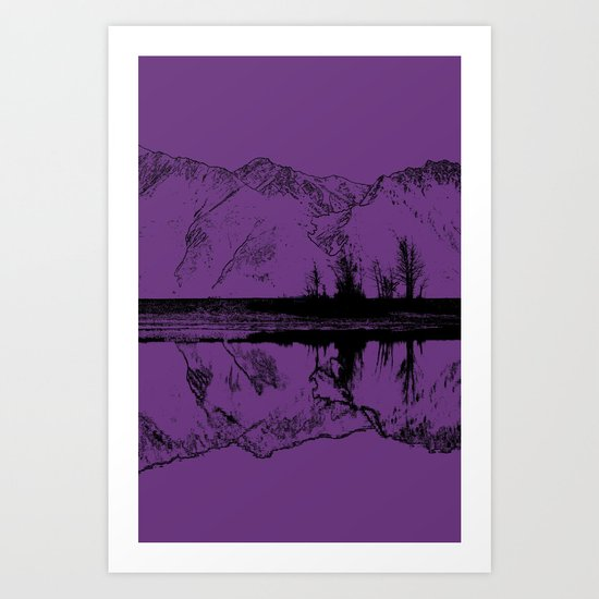 Knik River Mts. Pop Art - 2 Art Print