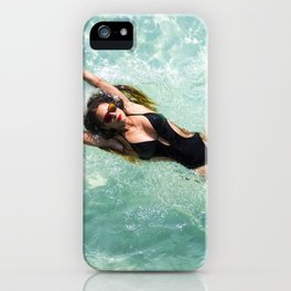 Sexy Young Woman Diving in the Water iPhone Case