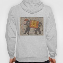 Vintage Decorated Elephant Painting (17th Century) Hoody
