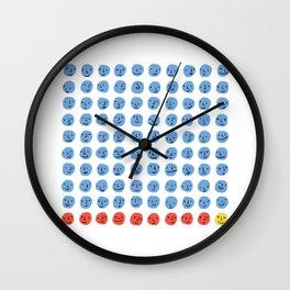 100 Smiling Dots Wall Clock