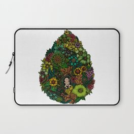 "Floral Uterus ""緑(ROKU)"" Laptop Sleeve"