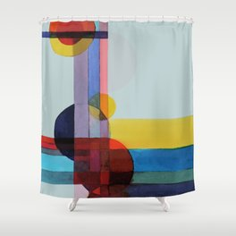 expo 68 (turquoise) Shower Curtain