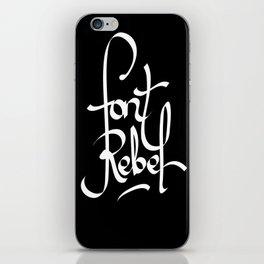 Font Rebel iPhone Skin