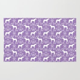 Horse Silhouette floral farm sanctuary animal nursery pet gifts horses Rug